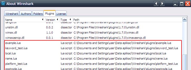 Using the generated Lua files in Wireshark — CSjark 1 0